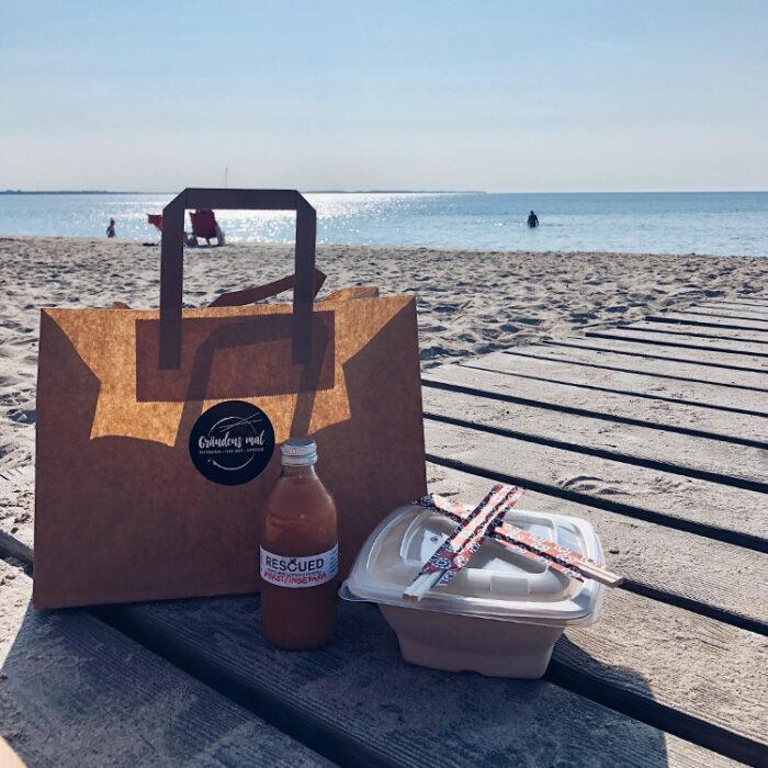 Take away på stranden